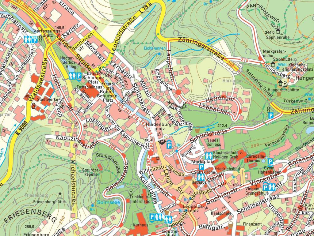 Large BadenBaden Maps for Free Download and Print HighResolution