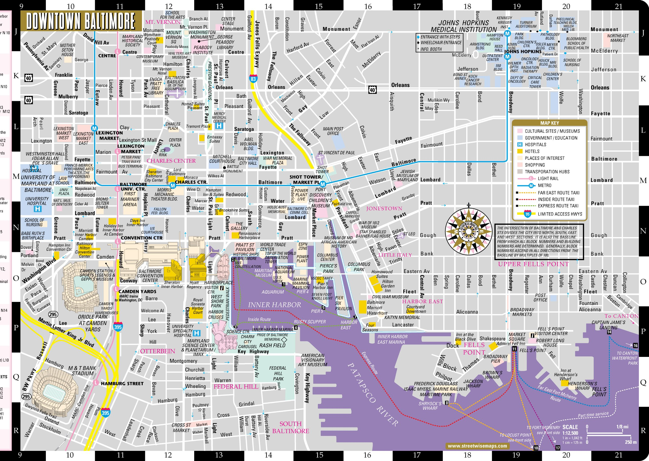 Large Baltimore Maps for Free Download and Print | High-Resolution ...