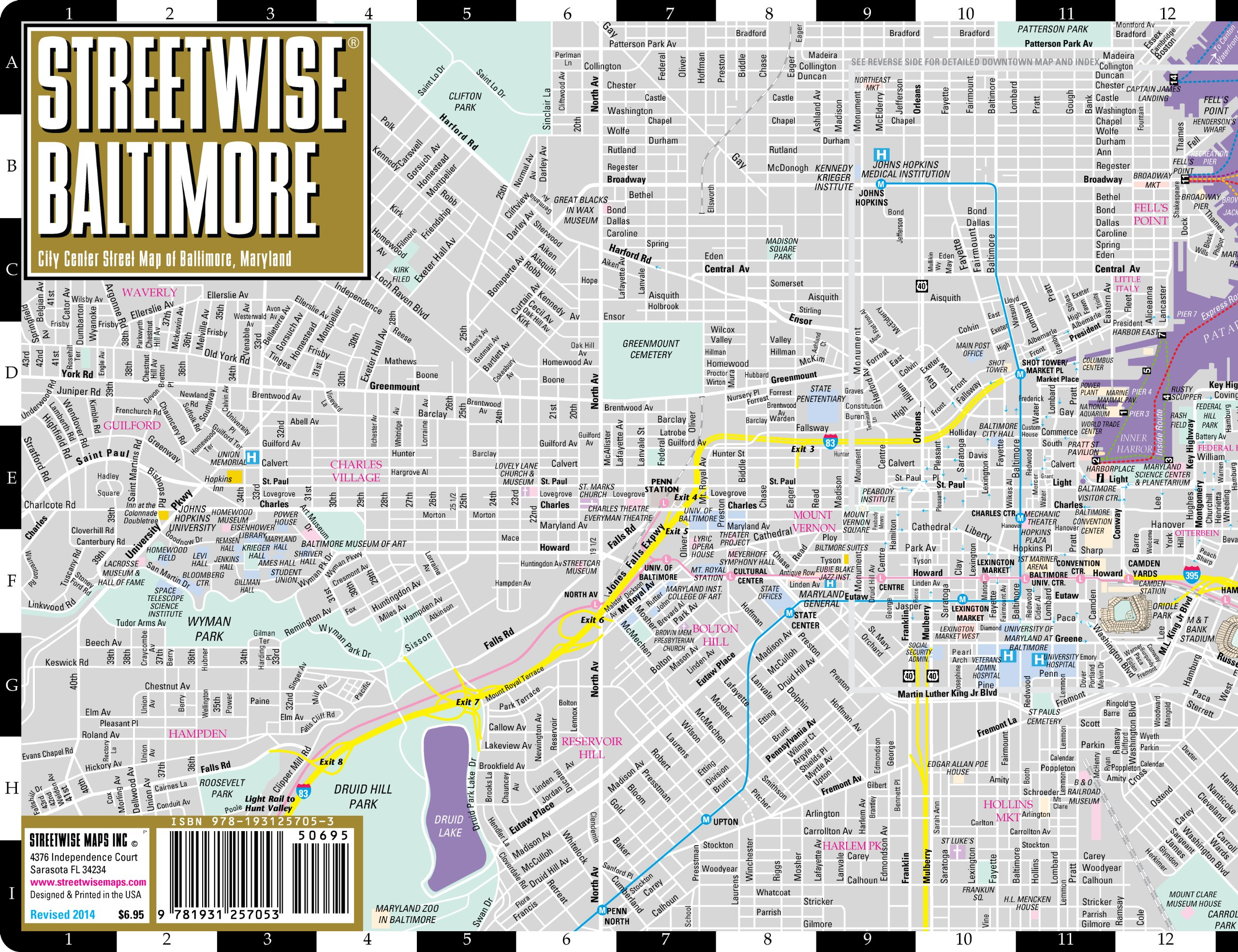 Large Baltimore Maps for Free Download and Print HighResolution