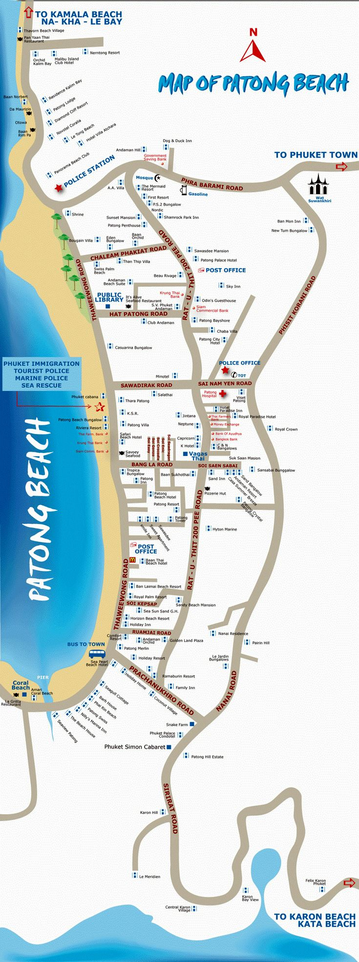 Large Map Of Patong Beach 3