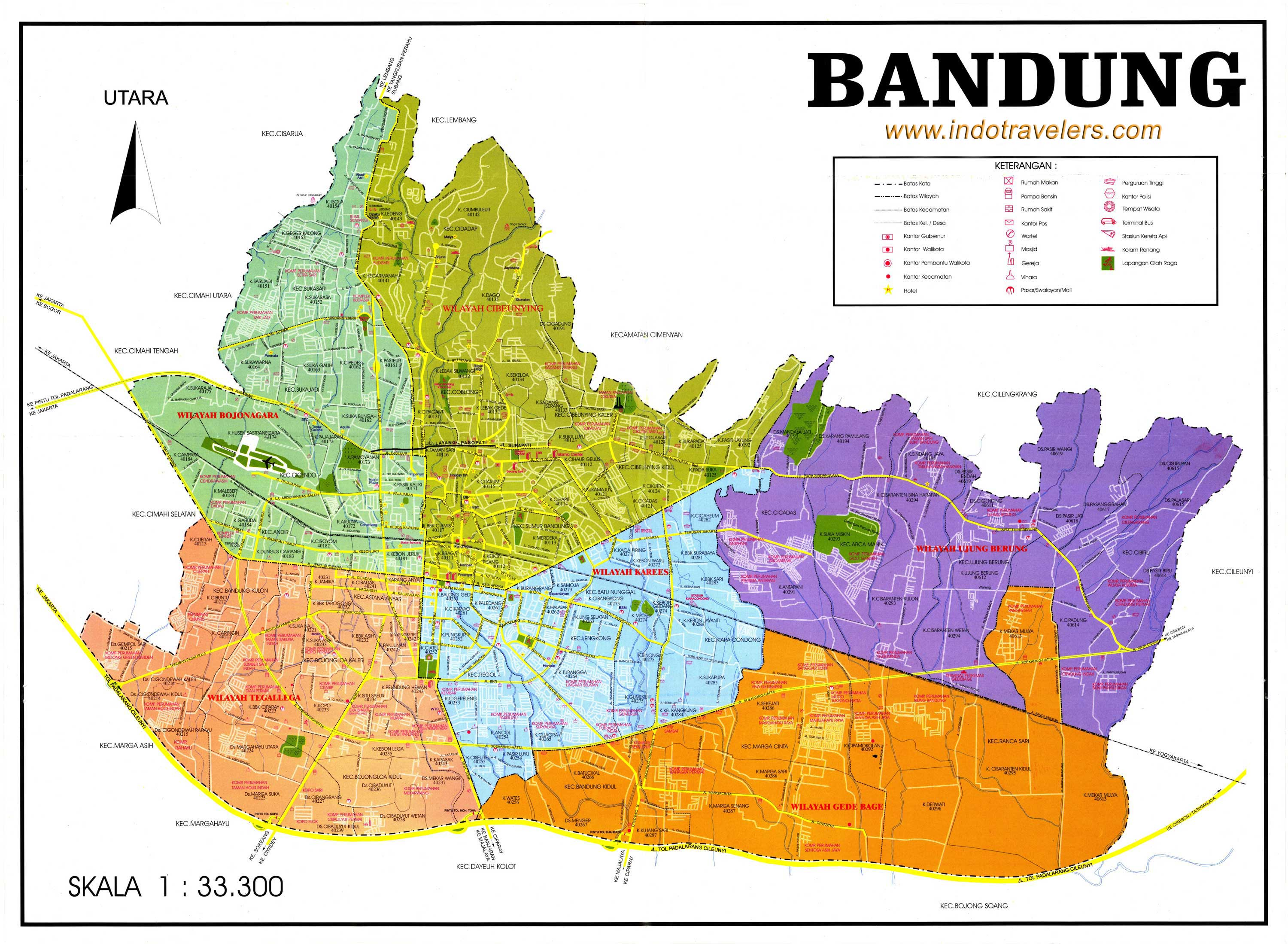 High-resolution map of Bandung ...