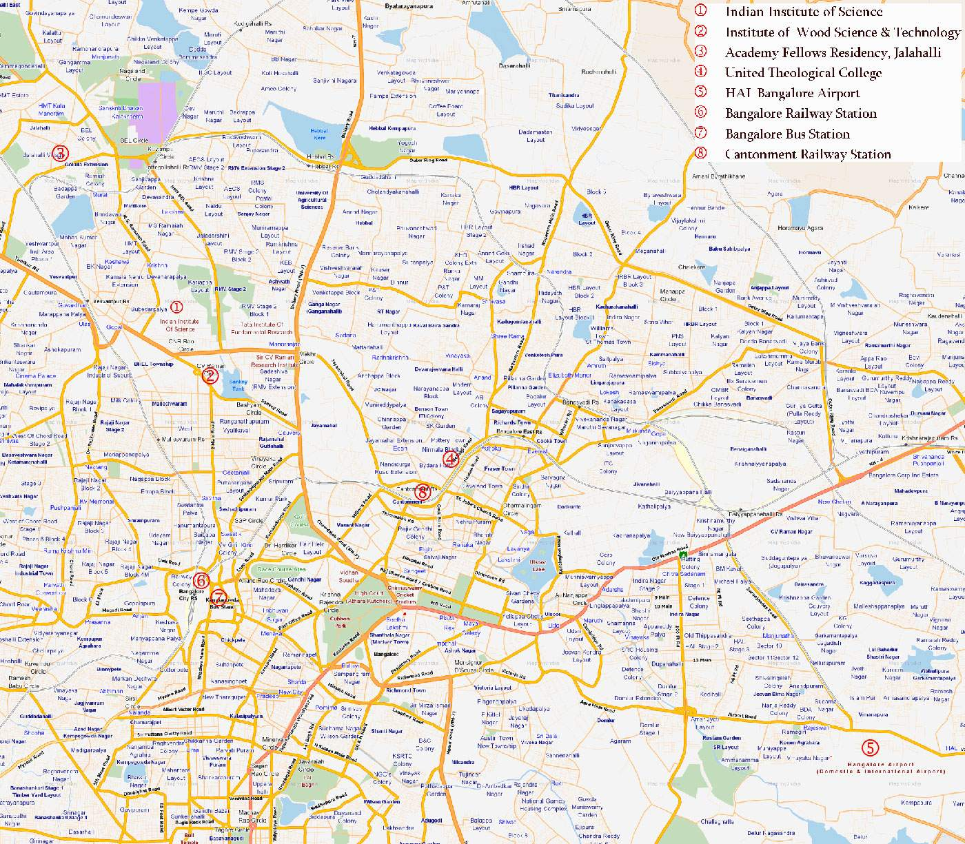 Map Of Bangalore City Large Bangalore Maps for Free Download and Print | High Resolution