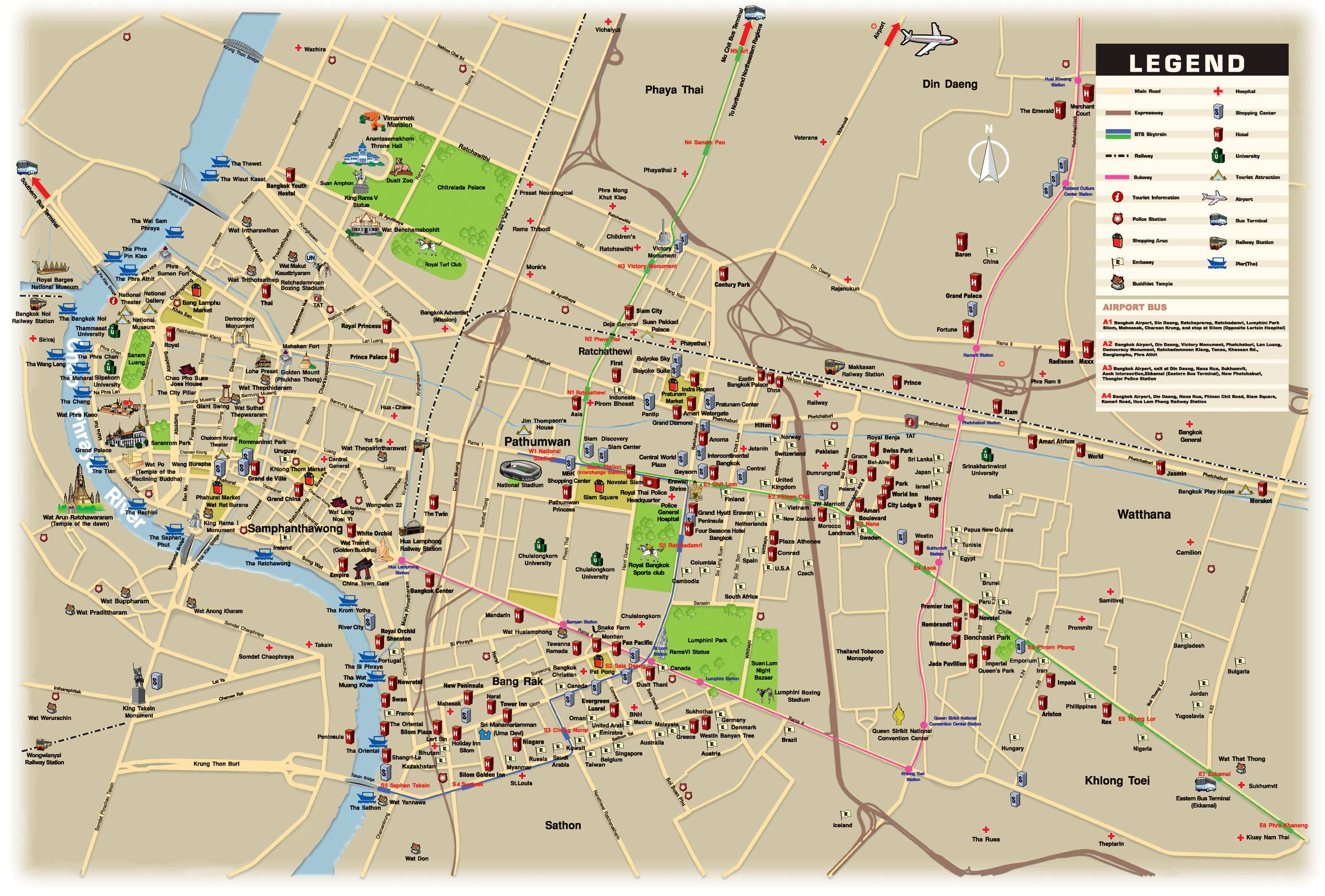 Large bangkok maps for free download and print high resolution large map of bangkok 1 gumiabroncs Choice Image