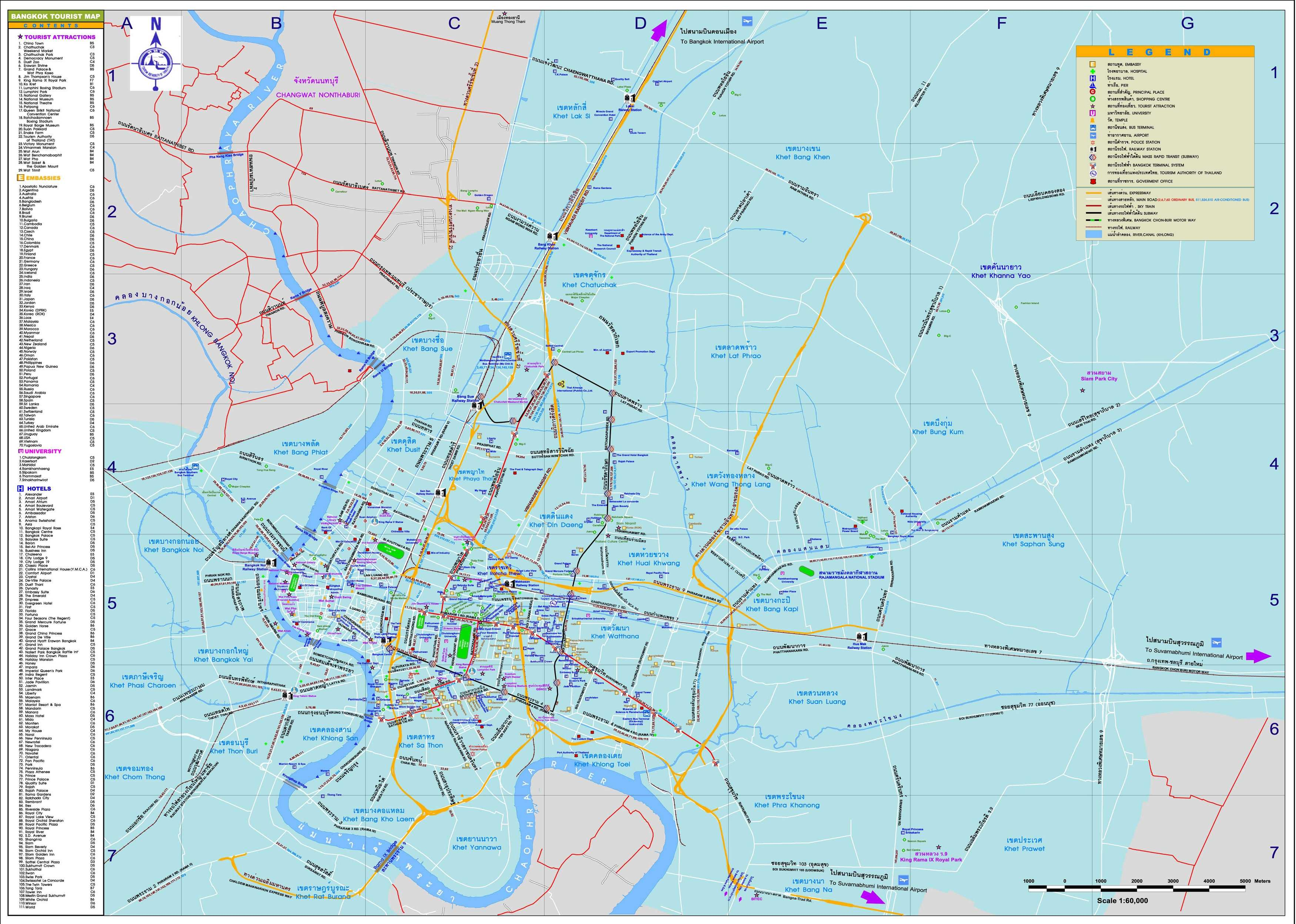Large Bangkok Maps for Free Download – Maps Of Bangkok For Tourists