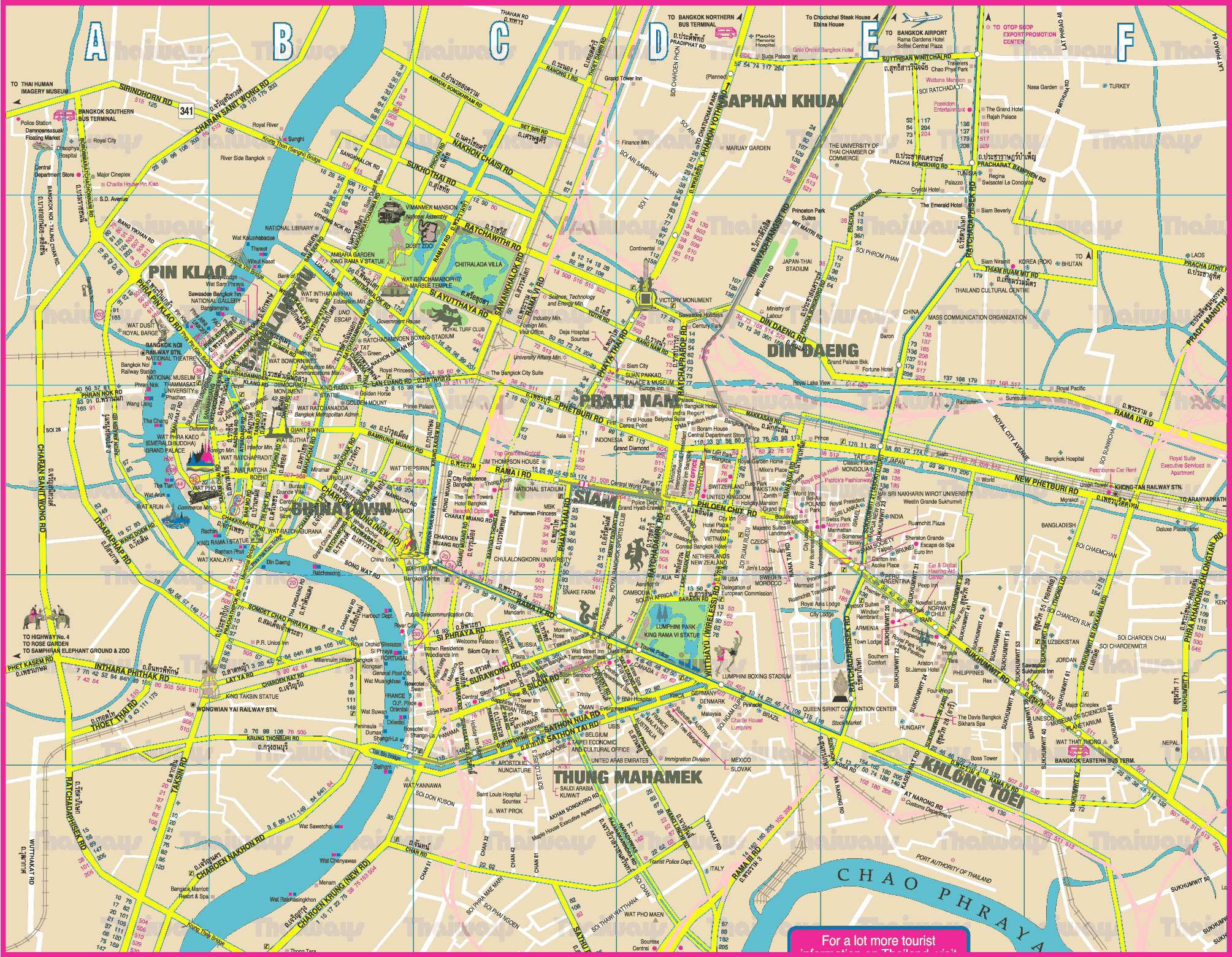 bangkok karte Large Bangkok Maps for Free Download and Print | High Resolution