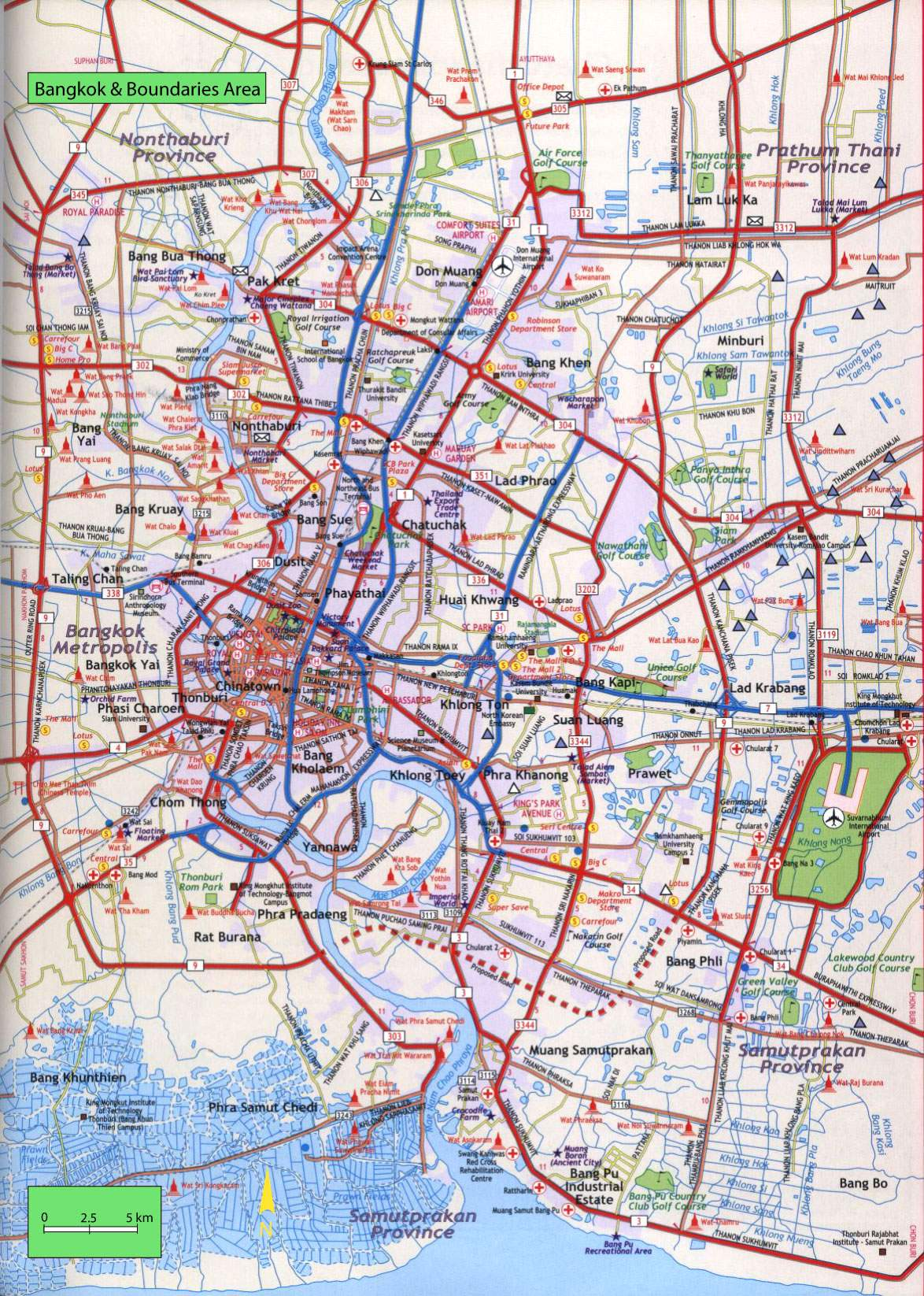 Large Bangkok Maps for Free Download and Print HighResolution and
