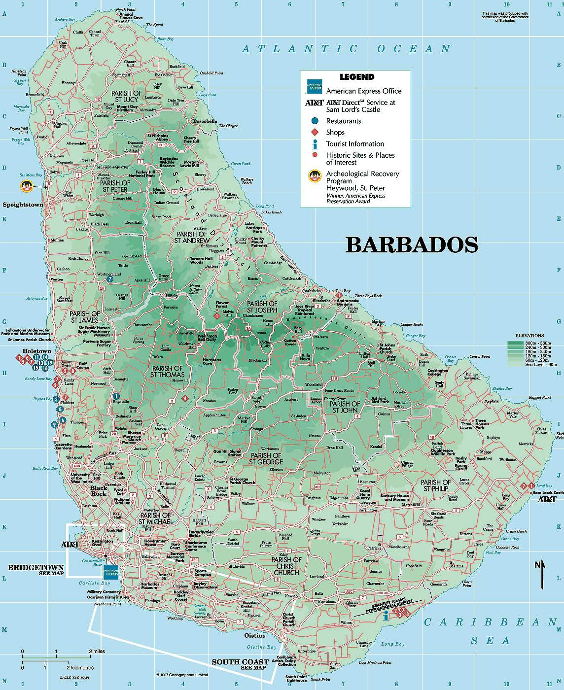 Large Bridgetown Maps for Free Download and Print  High