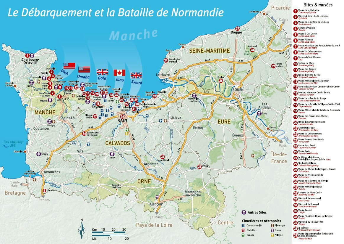 Large Normandy Maps for Free Download and Print HighResolution