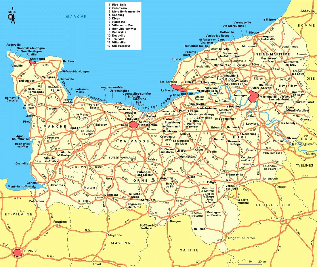 Map Of Normandy France Detailed.Large Normandy Maps For Free Download And Print High Resolution