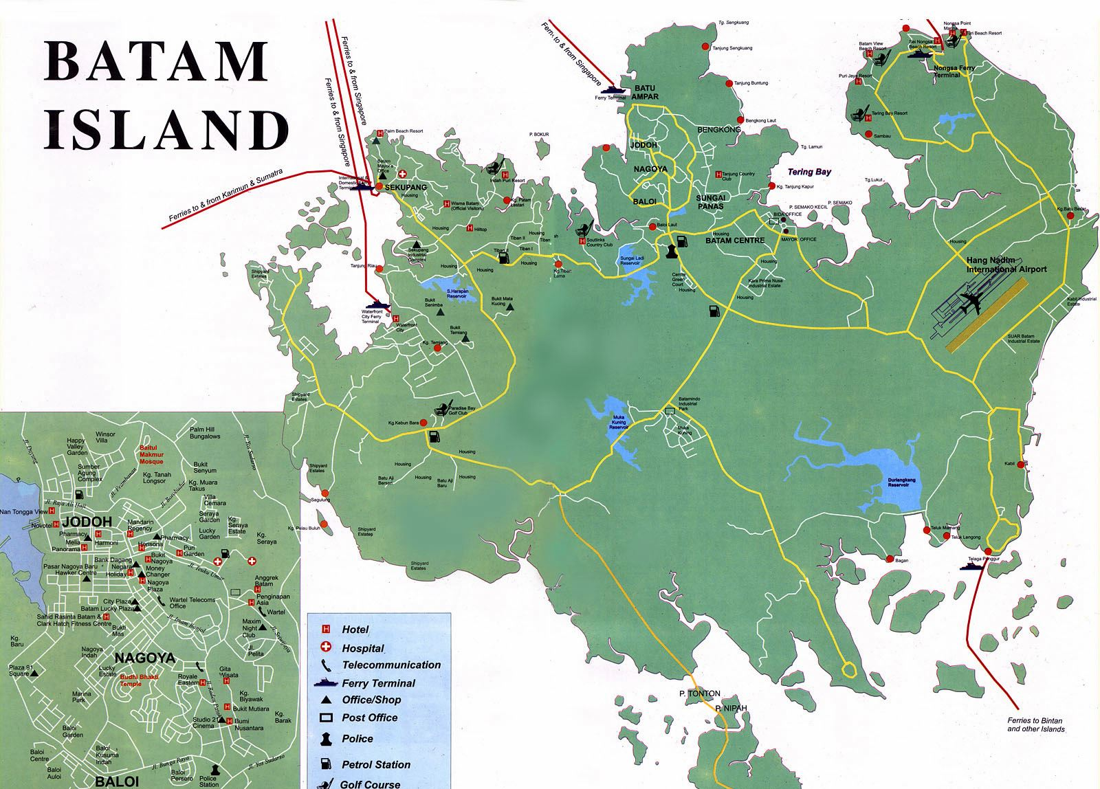 Large Batam Island Maps for Free Download and Print High