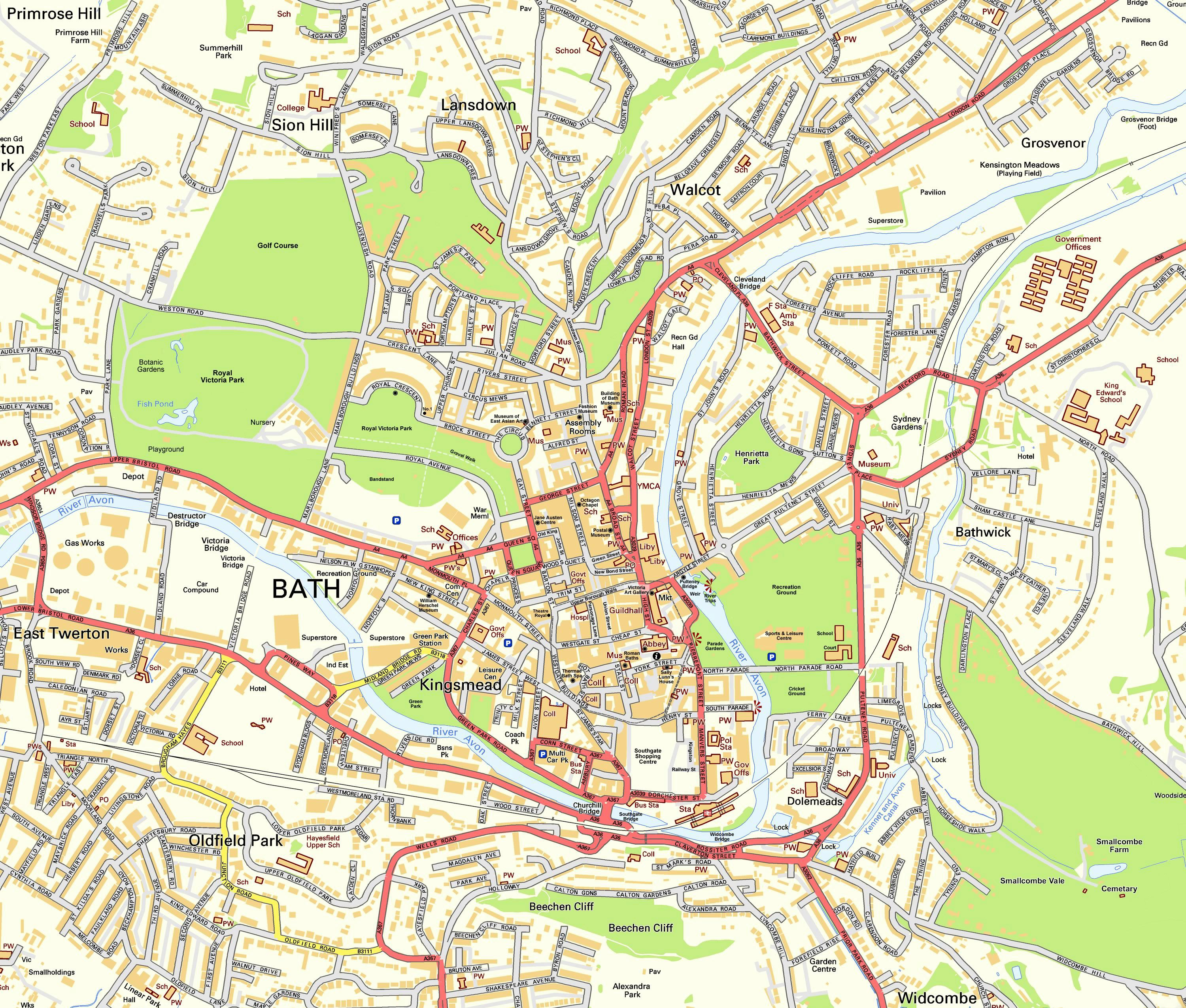 Map Of Bath Large Bath Maps for Free Download and Print | High Resolution and  Map Of Bath