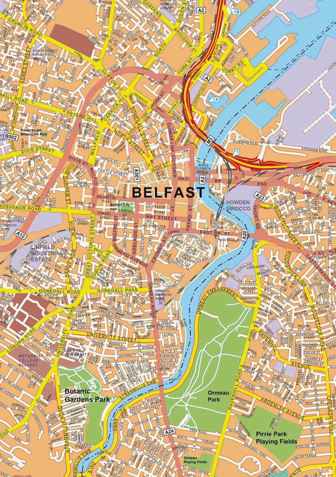 Large Belfast Maps for Free Download and Print HighResolution and