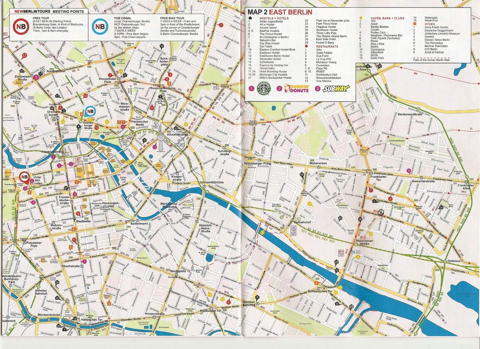 Large Berlin Maps for Free Download – Tourist Map of Berlin
