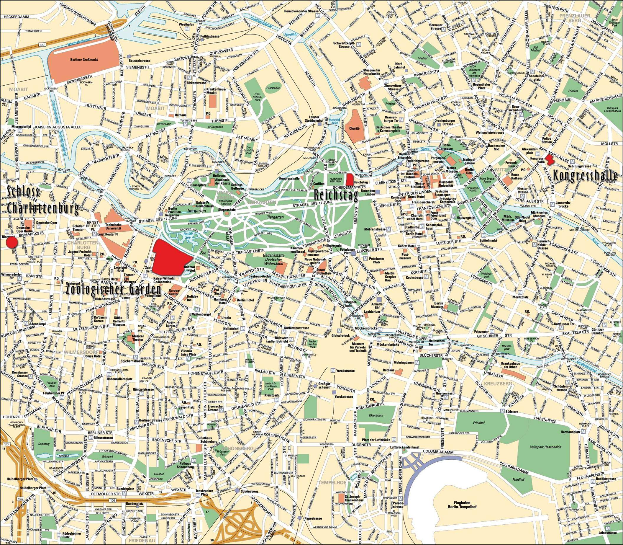 Large Berlin Maps for Free Download and Print | High