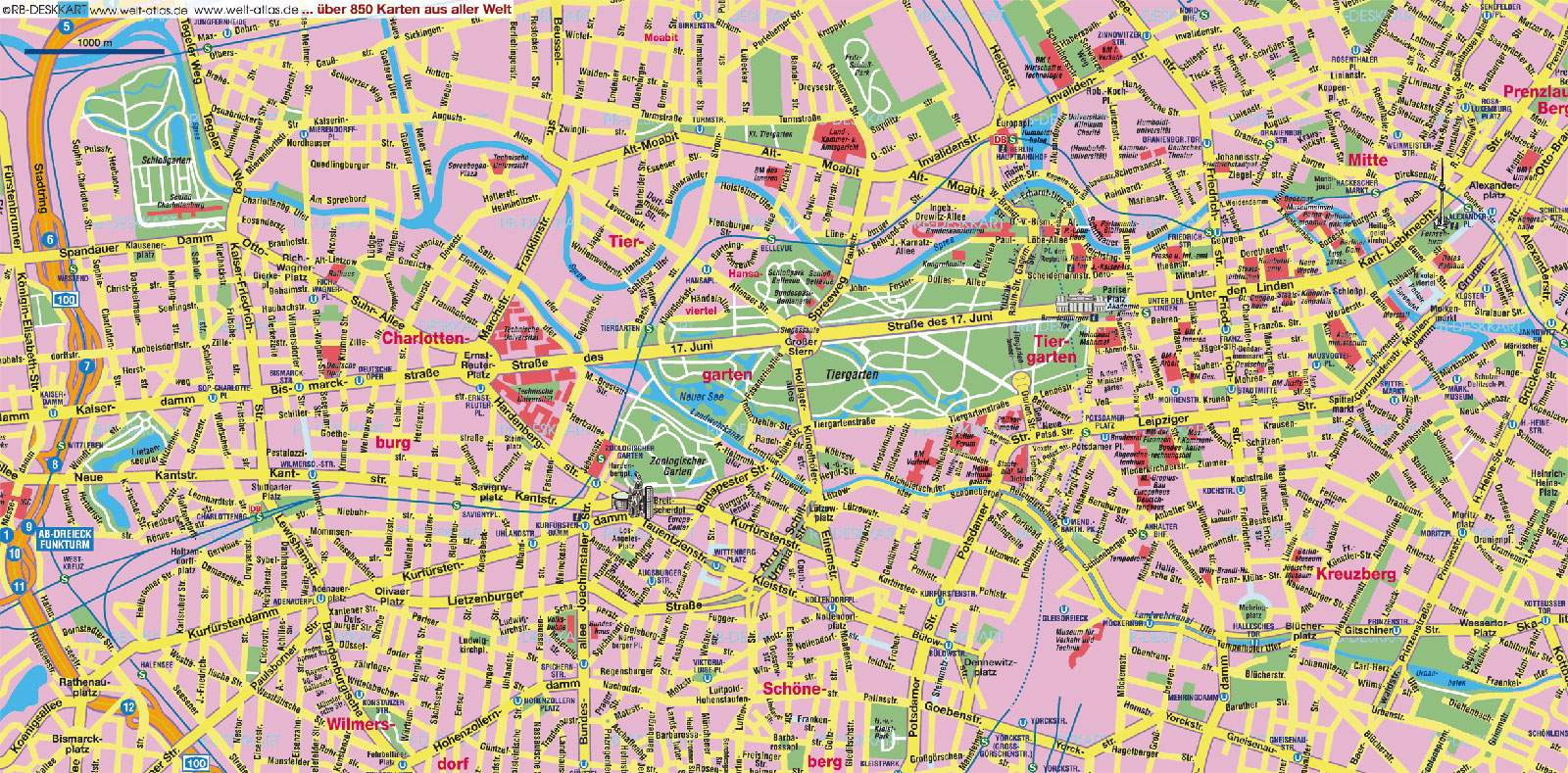 karte von berlin Large Berlin Maps for Free Download and Print | High Resolution  karte von berlin