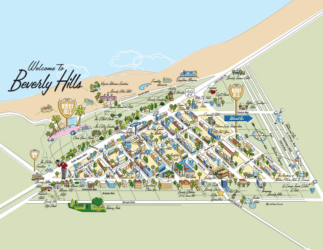 Beverly Hills Star Map Large Beverly Hills Maps for Free Download and Print | High  Beverly Hills Star Map