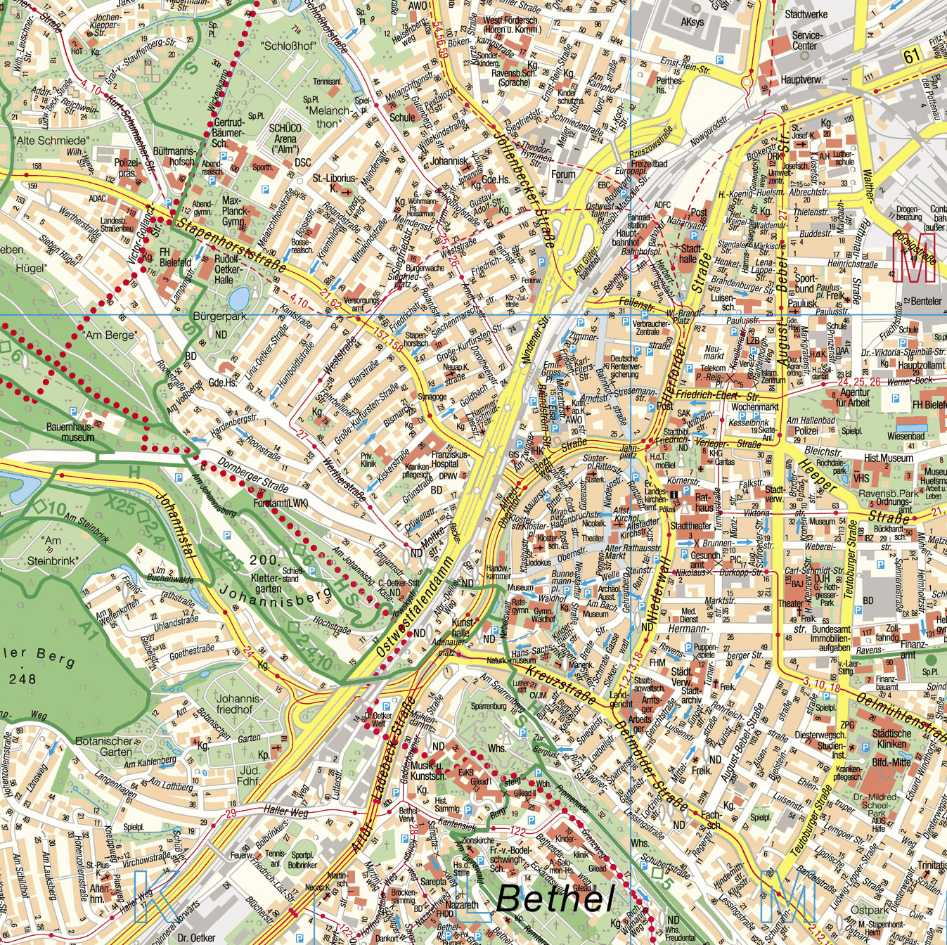 Large Bielefeld Maps for Free Download and Print HighResolution