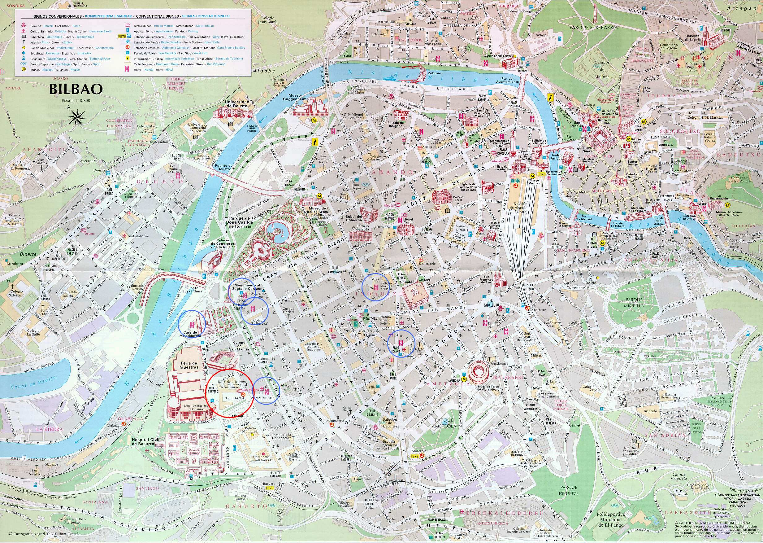 Large Bilbao Maps for Free Download – Tourist Map Of Cordoba Spain