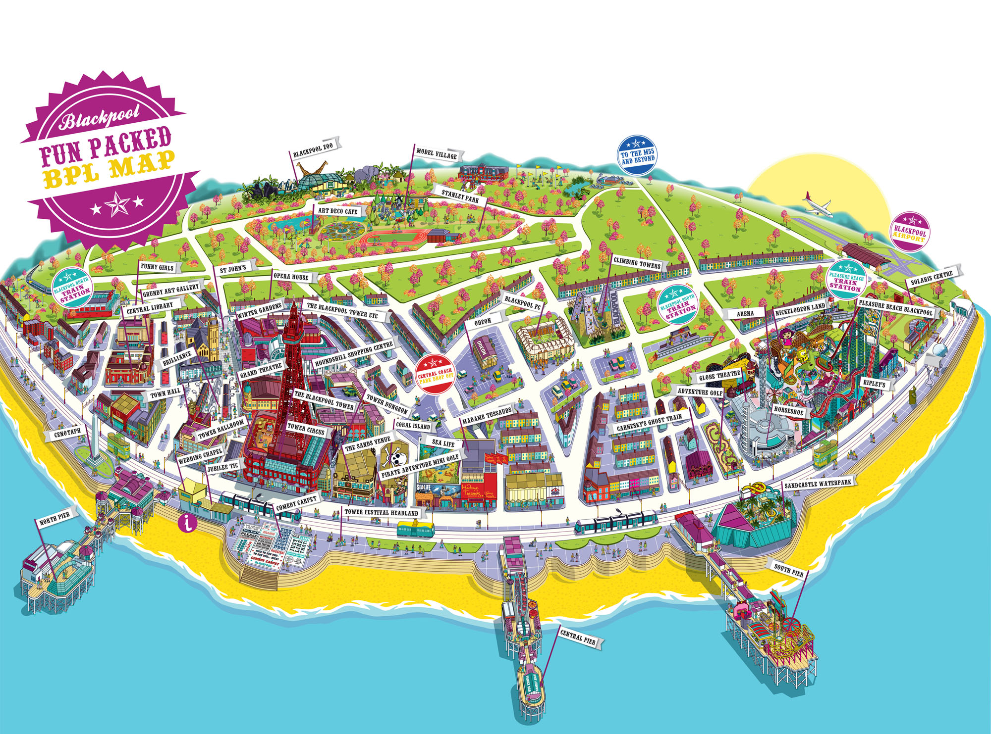 Street Map Of Blackpool Large Blackpool Maps for Free Download and Print | High Resolution