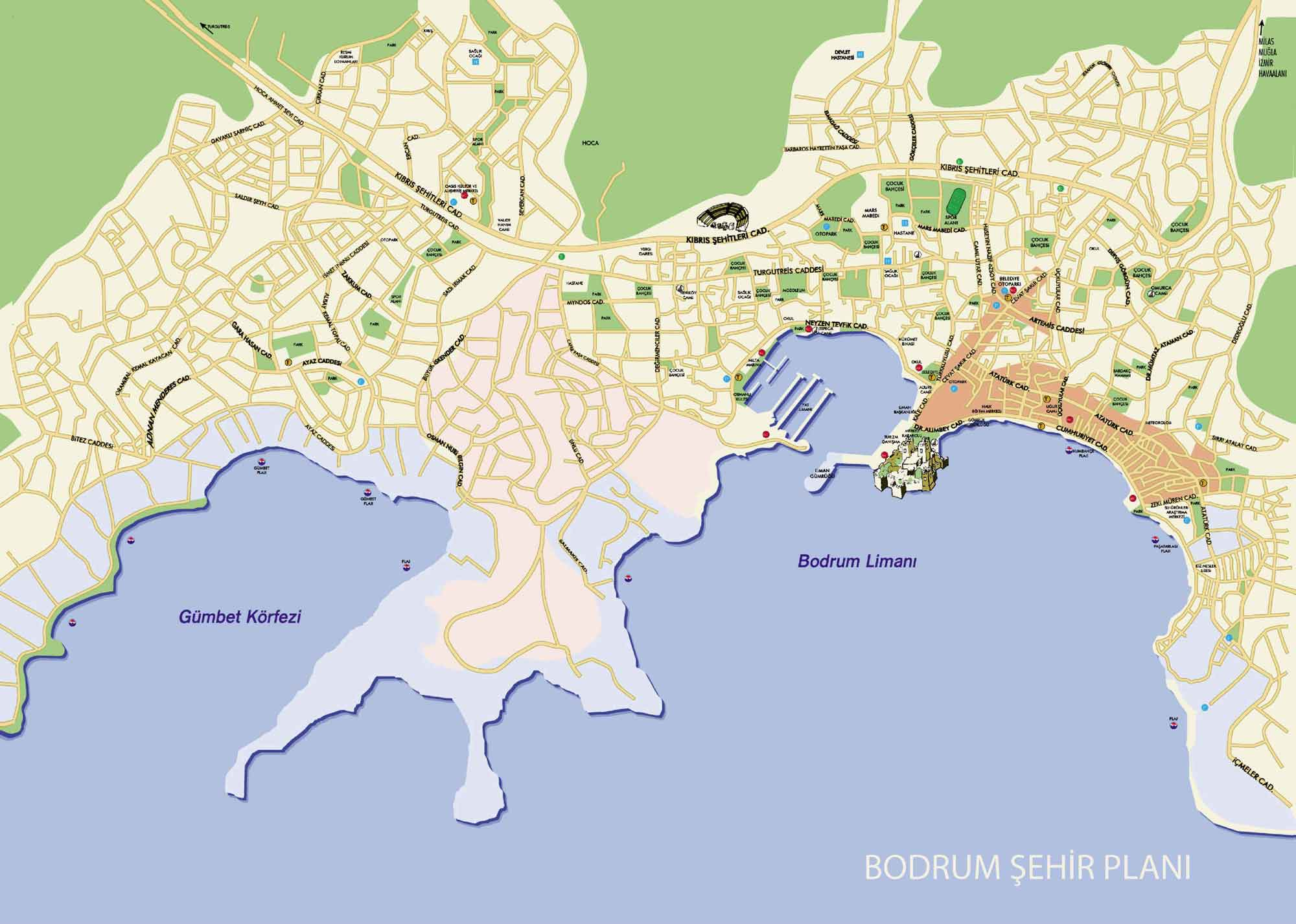 Large Bodrum Maps for Free Download and Print HighResolution and