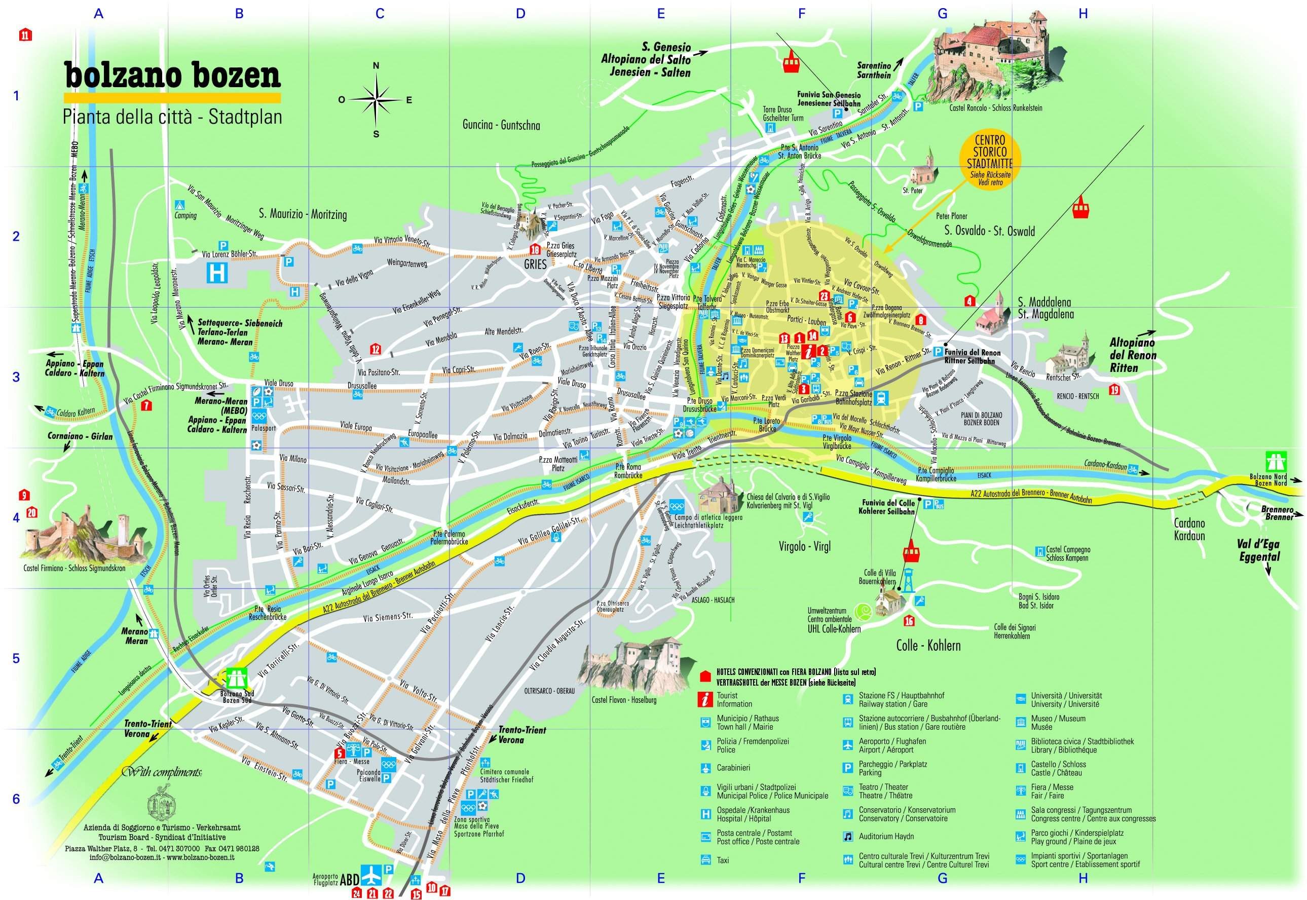 Large Bolzano Maps for Free Download and Print HighResolution and