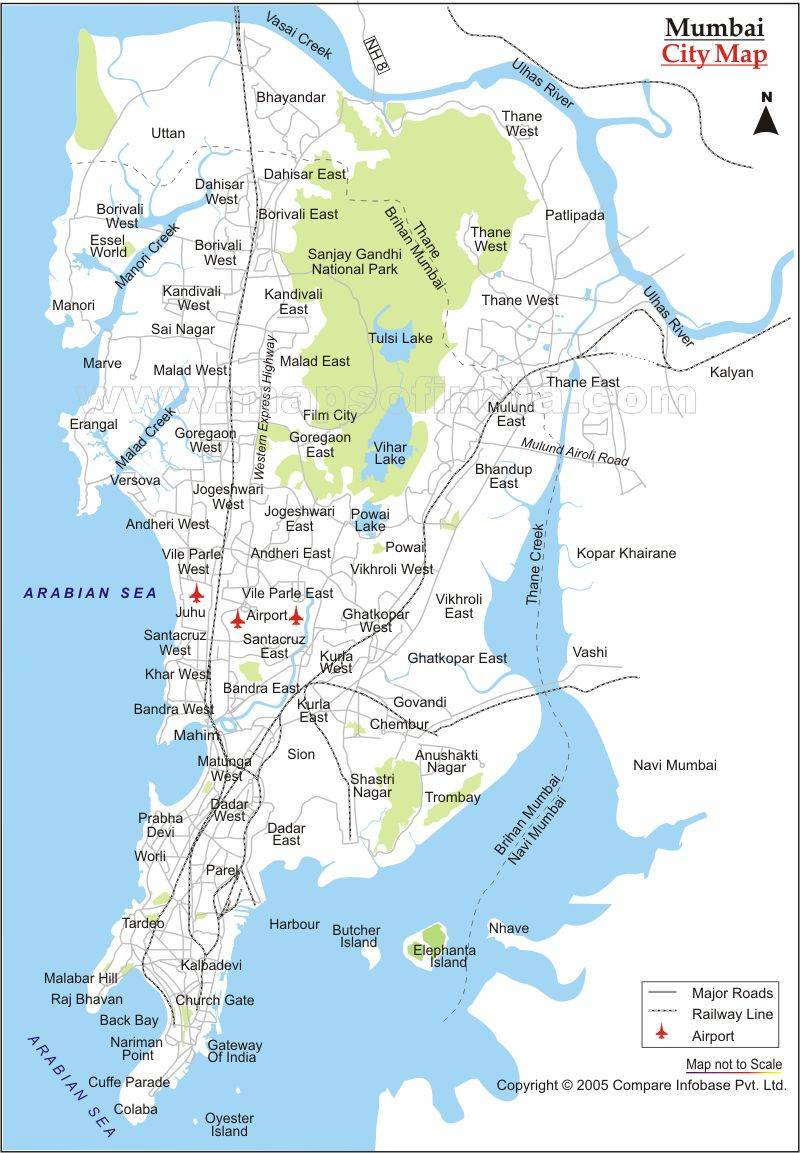 Mumbai Map Download Large Bombay Maps for Free Download and Print | High Resolution