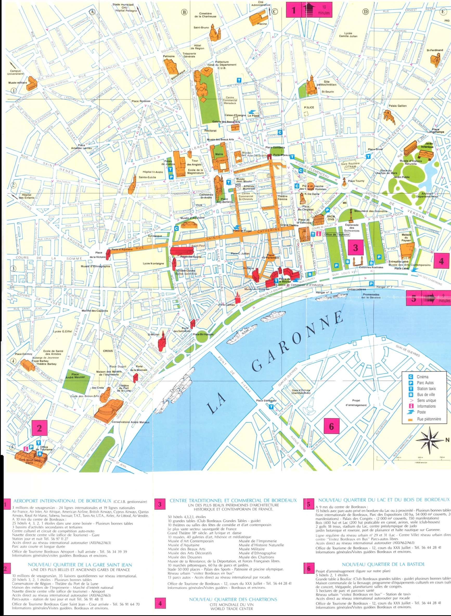 Large Bordeaux Maps for Free Download and Print HighResolution