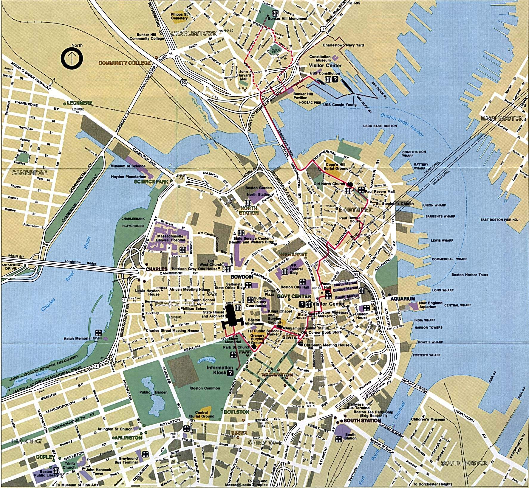Large Boston Maps for Free Download and Print | High-Resolution and ...