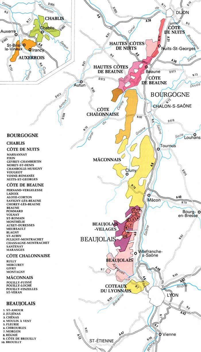 burgund karte Stadtplan von Burgund | Detaillierte gedruckte Karten von Burgund