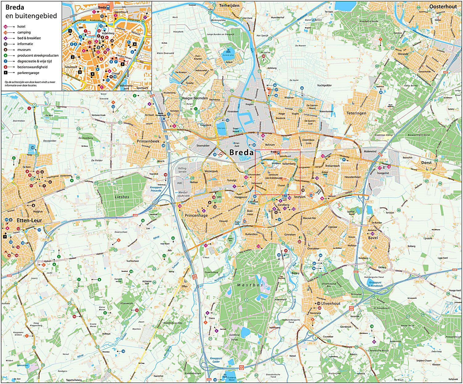Large Breda Maps for Free Download and Print HighResolution and