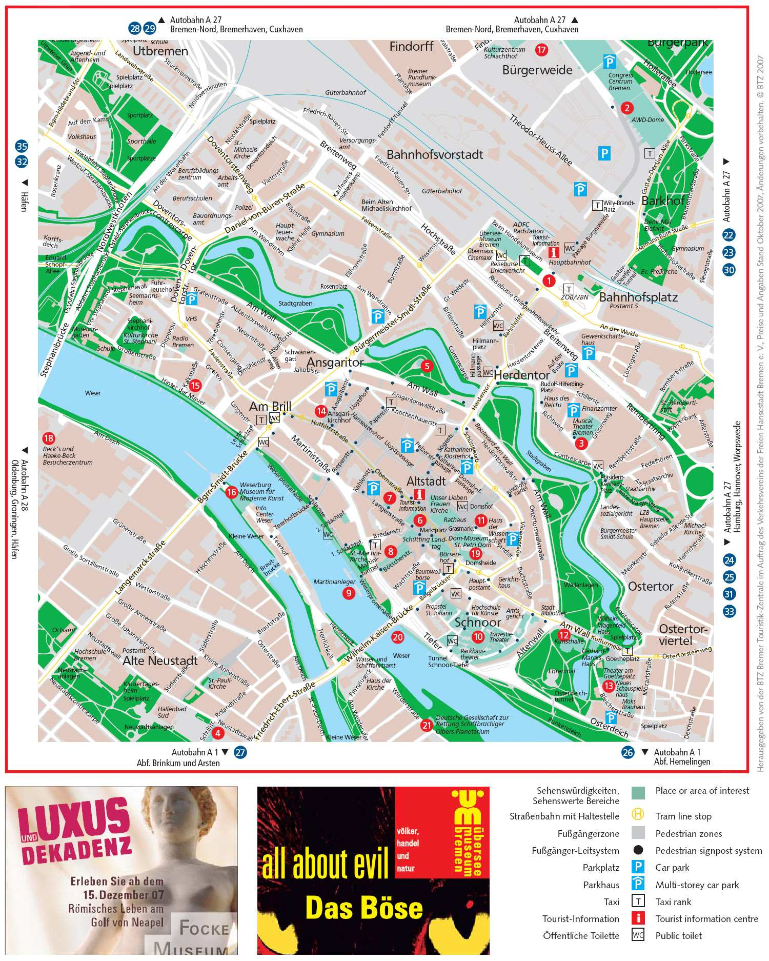 Large Bremen Maps for Free Download and Print HighResolution and