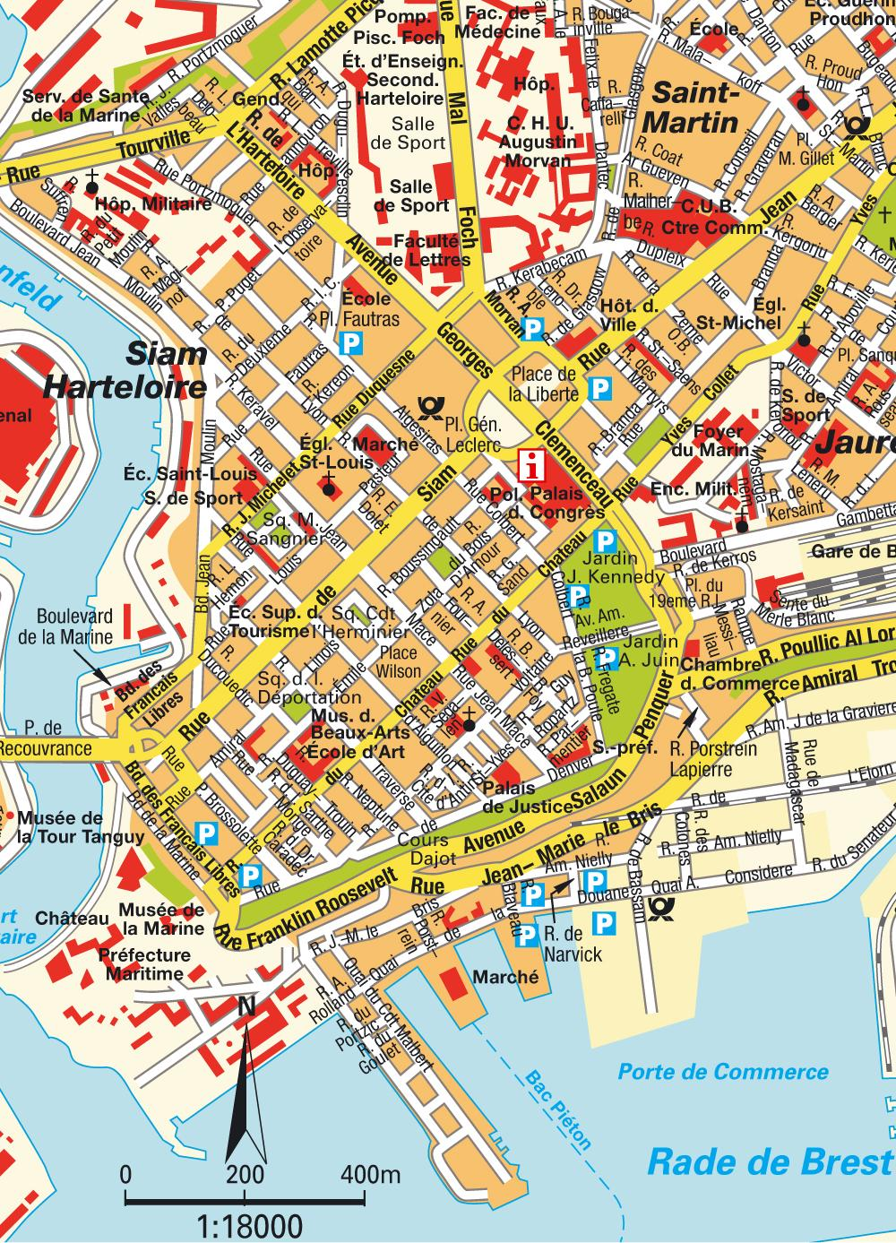 Large Brest Maps for Free Download and Print HighResolution and