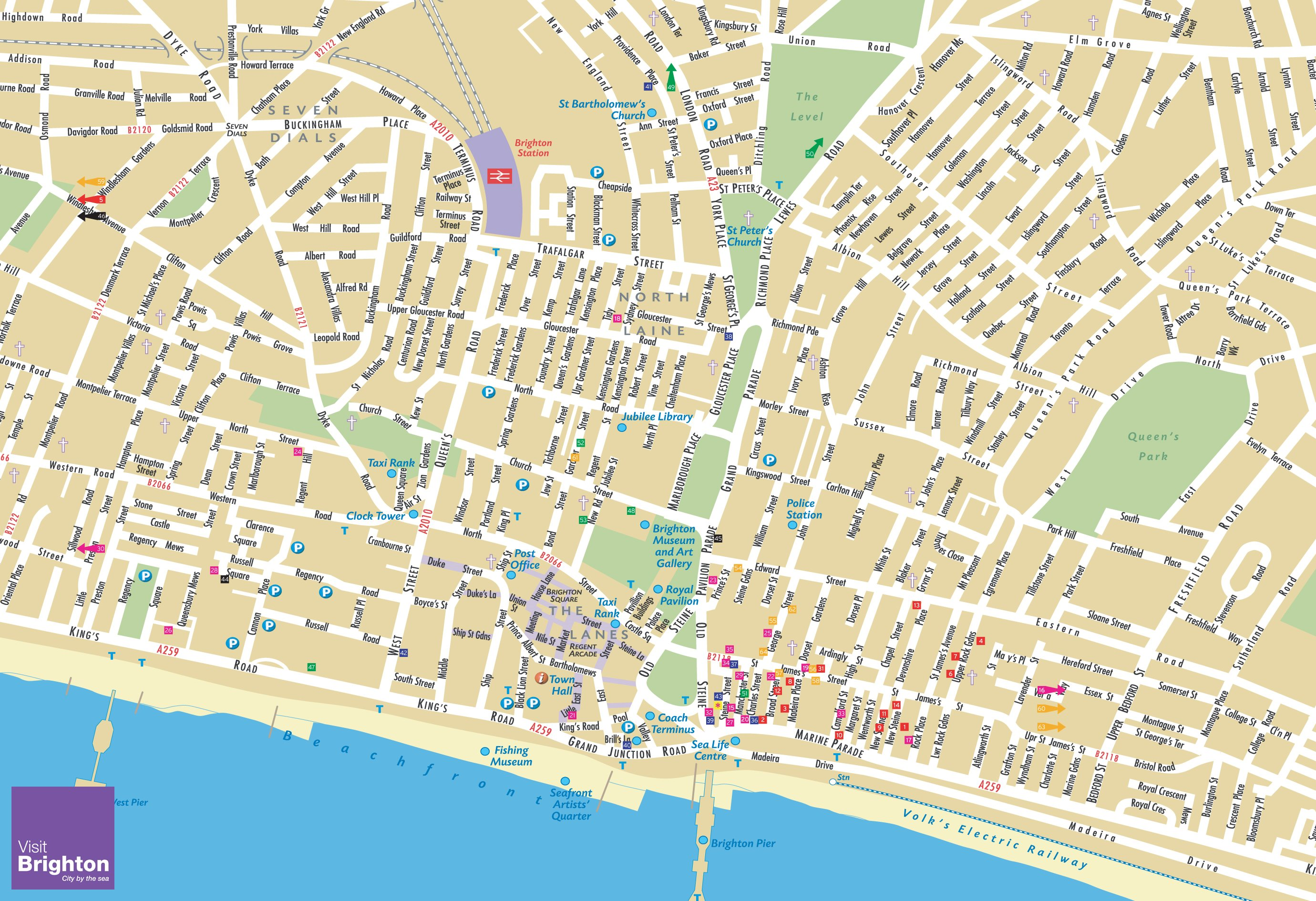 Map Of England Brighton.Large Brighton Maps For Free Download High Resolution And Detailed