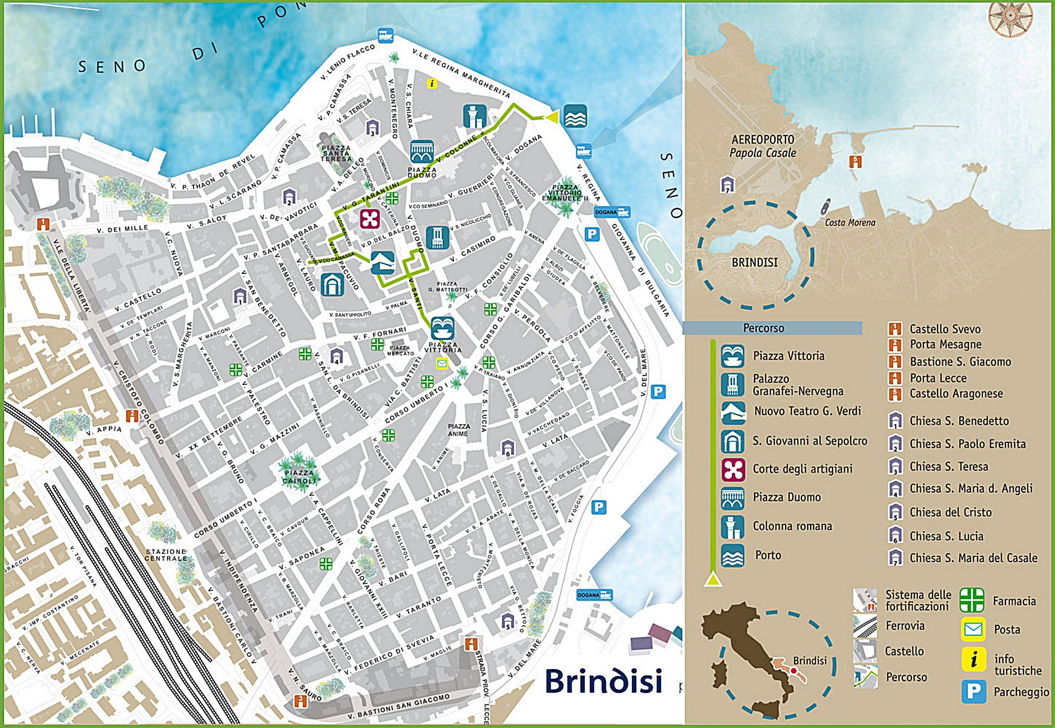 Large Brindisi Maps for Free Download and Print HighResolution