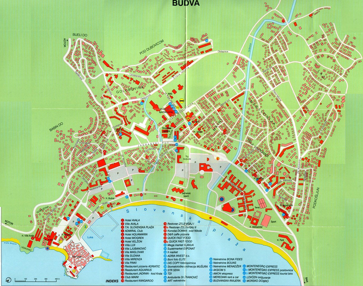 Large Budva Maps For Free Download And Print High Resolution And