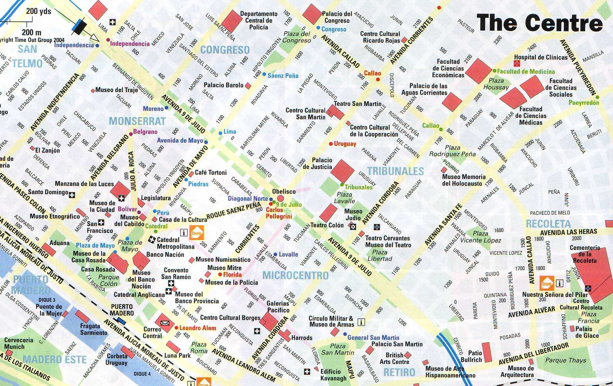 Large Buenos Aires Maps for Free Download – Tourist Map of Argentina
