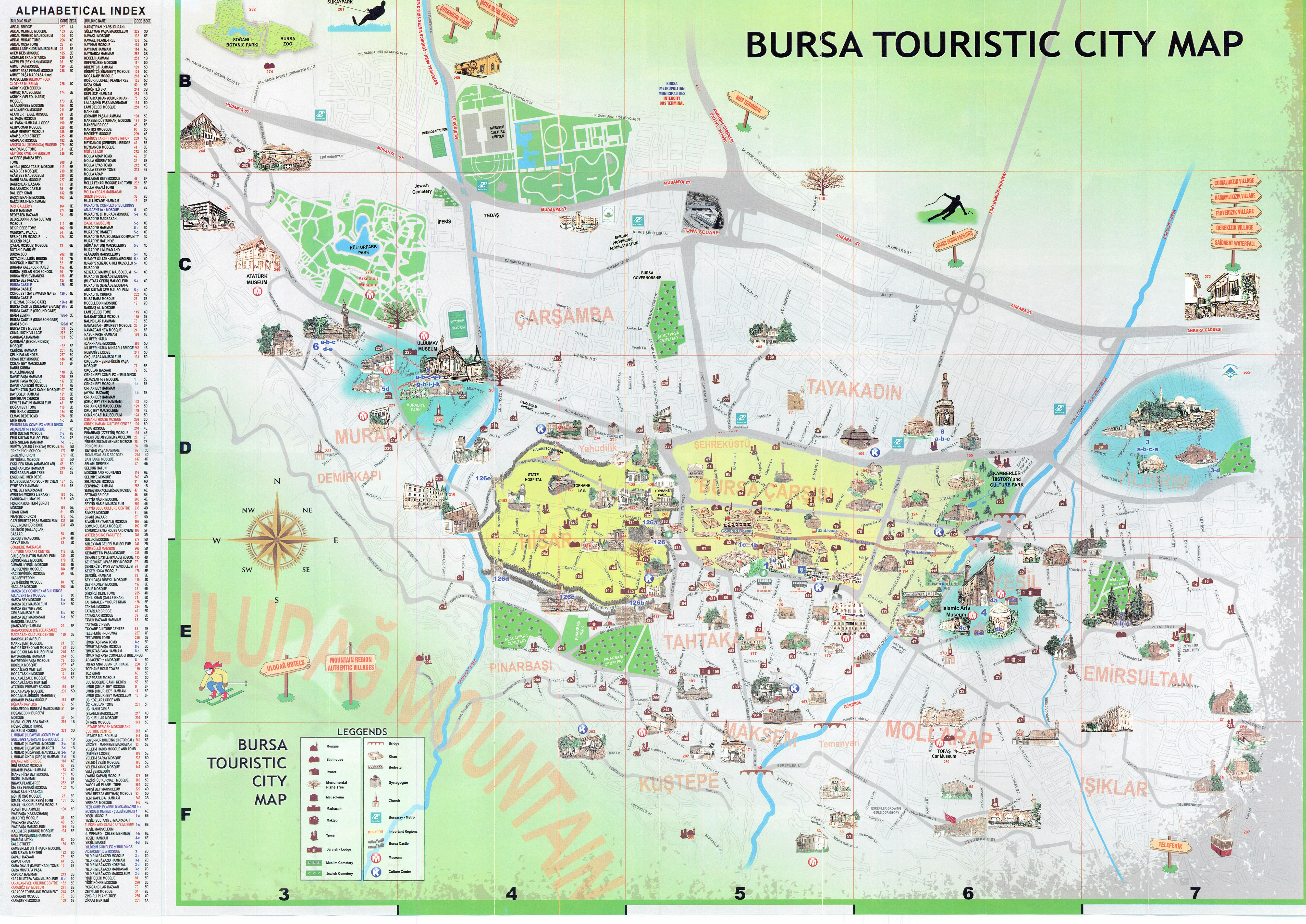 Large Bursa Maps for Free Download and Print HighResolution and