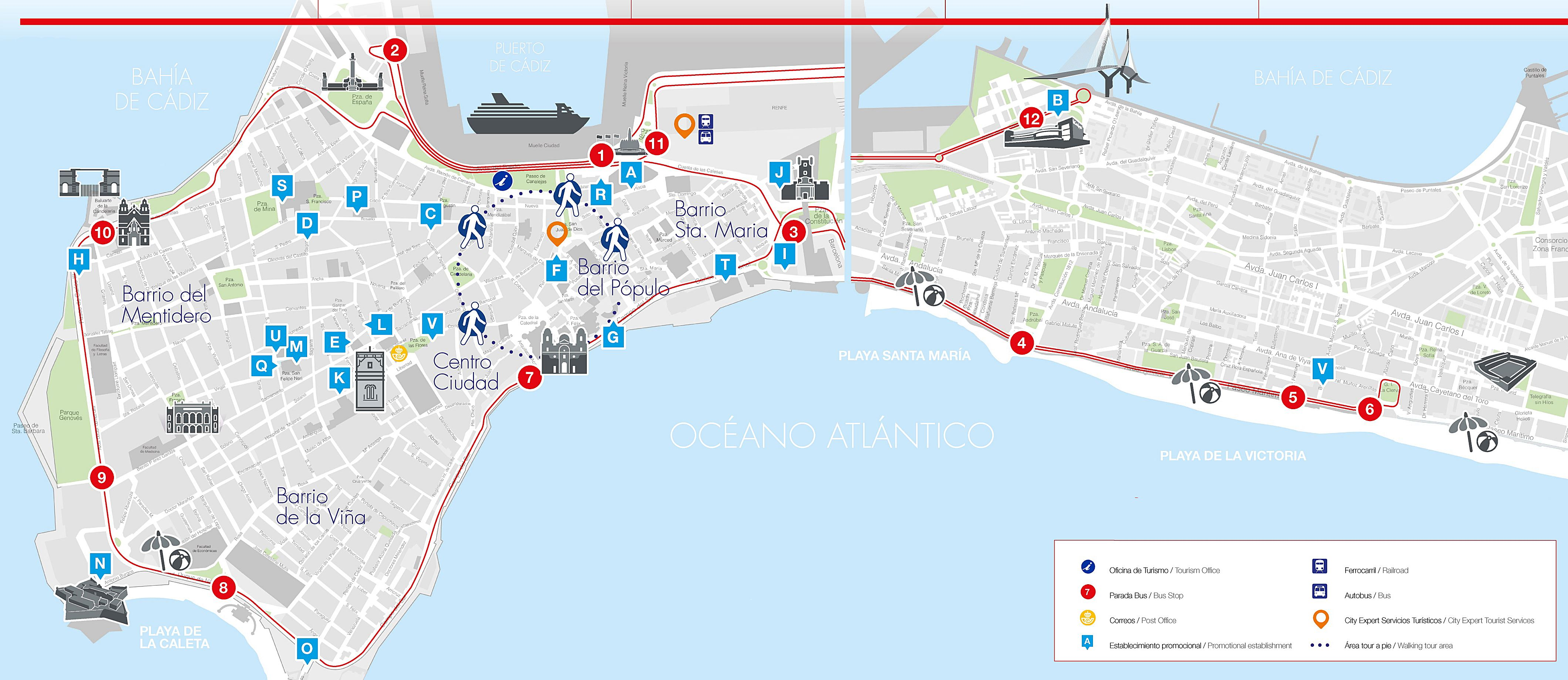 Large Cadiz Maps for Free Download and Print HighResolution and