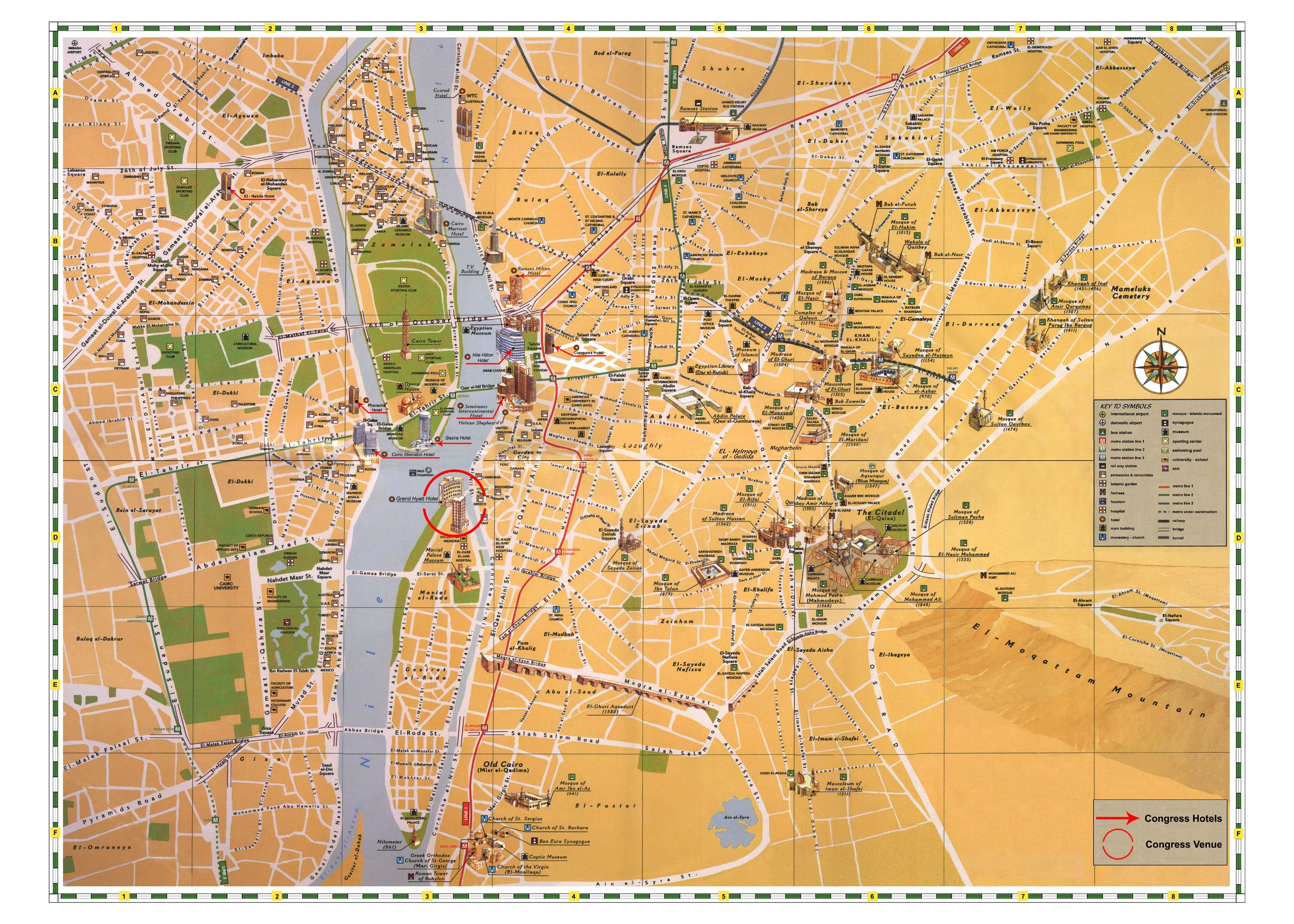 cairo mapa Large Cairo Maps for Free Download and Print | High Resolution and  cairo mapa