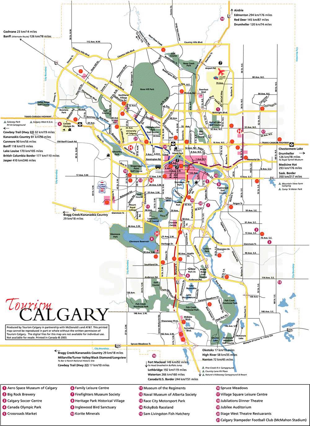 City Of Calgary Map Large Calgary Maps for Free Download and Print | High Resolution
