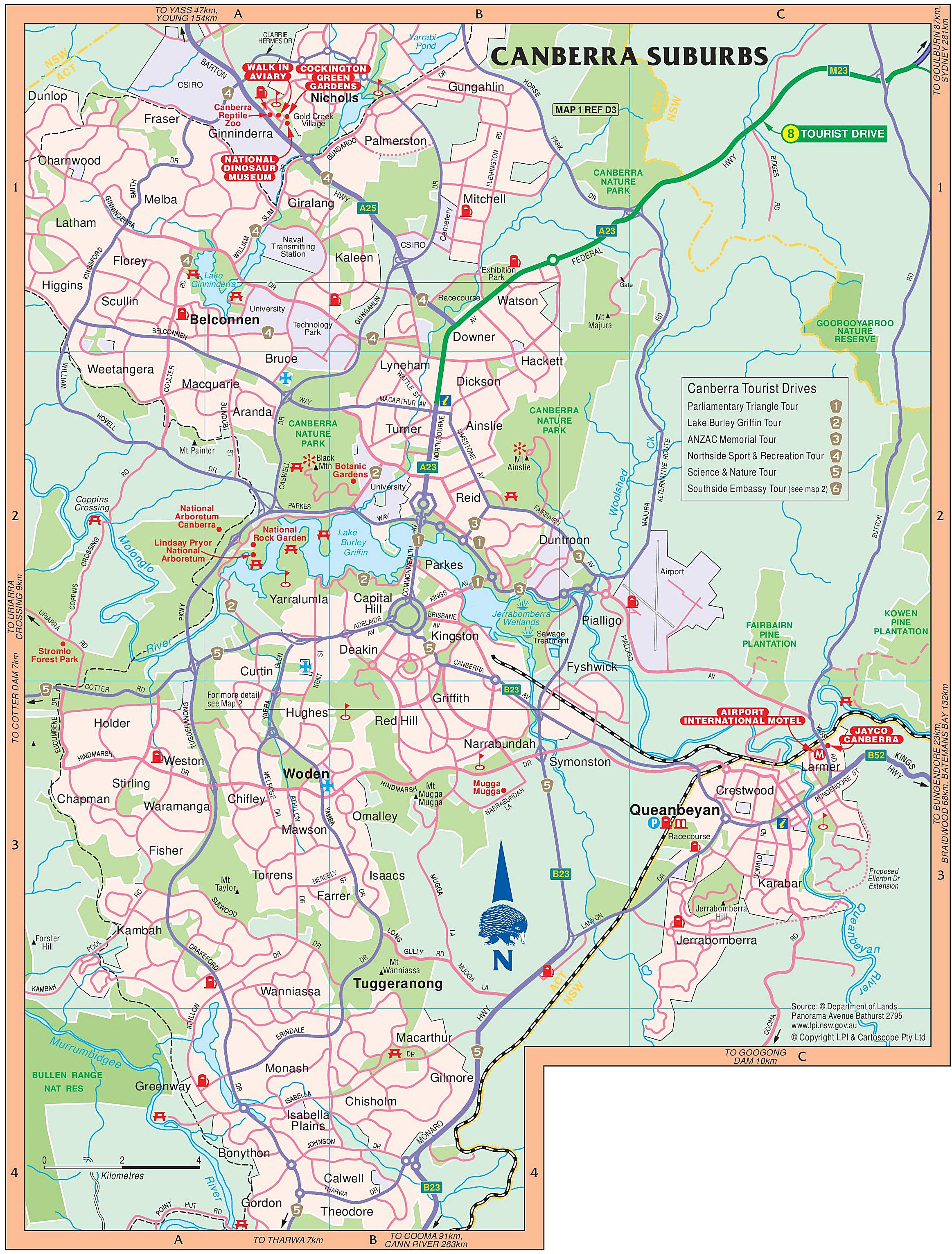 Map Of Canberra Large Canberra Maps for Free Download and Print | High Resolution  Map Of Canberra