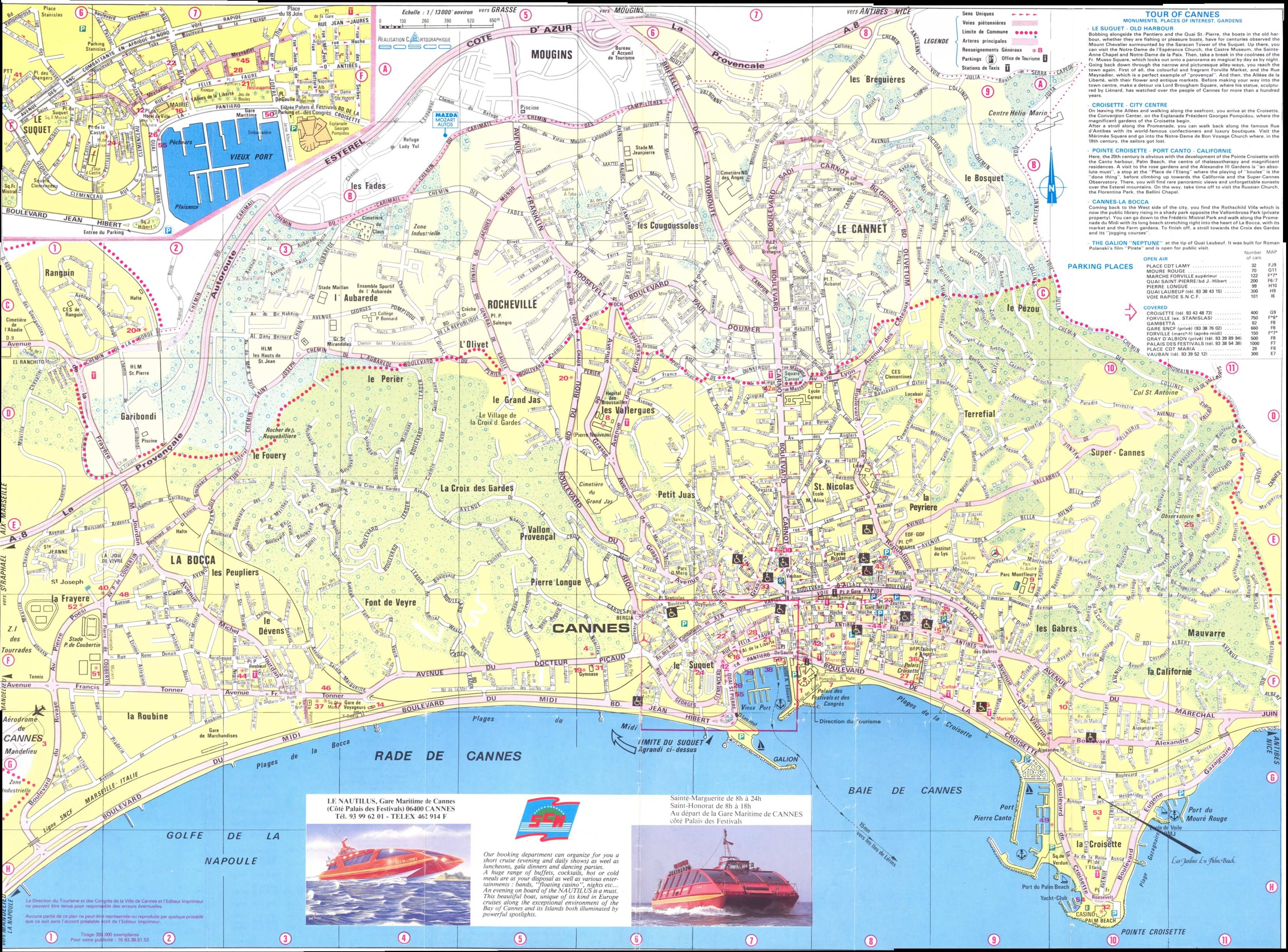 Large Cannes Maps for Free Download and Print HighResolution and