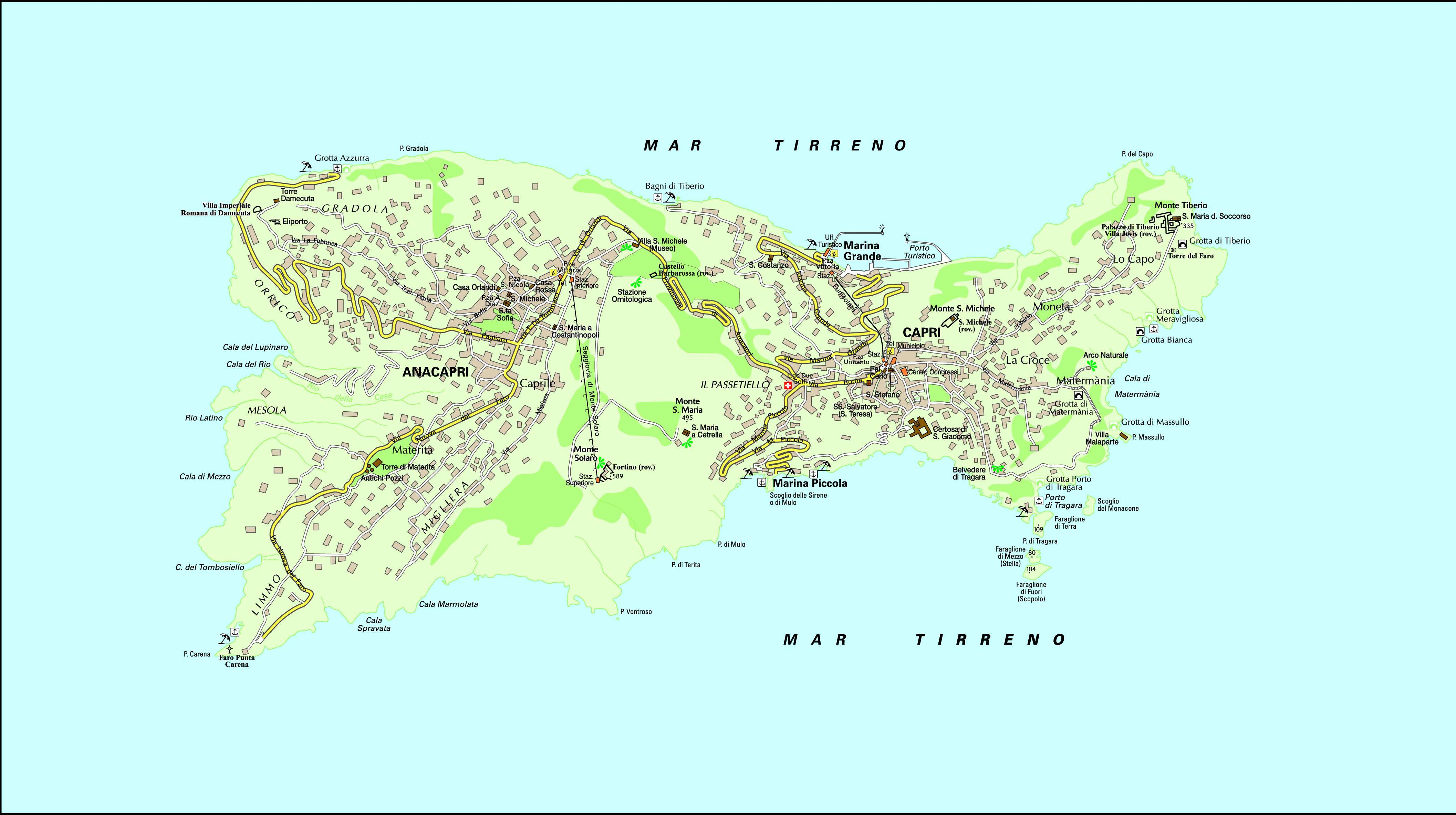 Large Capri Maps For Free Download And Print High