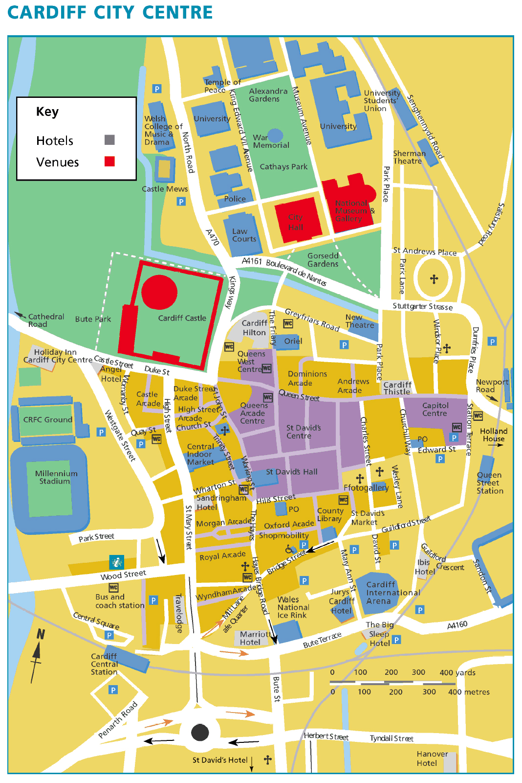 Large Cardiff Maps for Free Download and Print HighResolution and