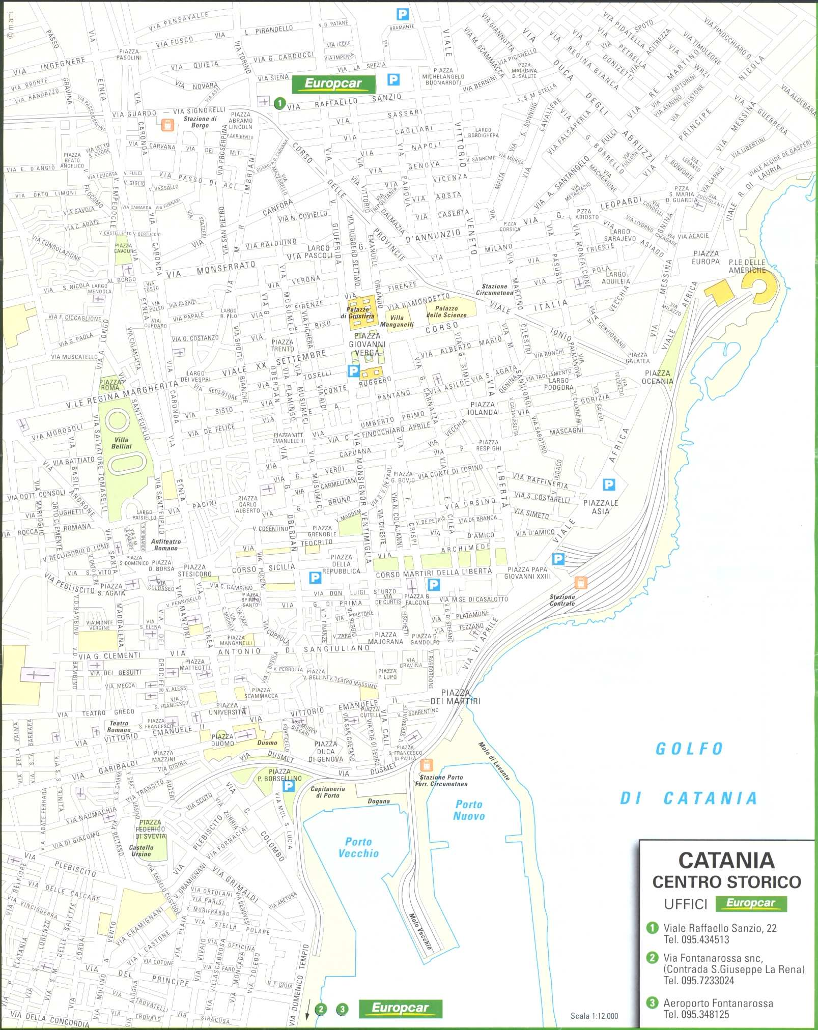 Large Catania Maps for Free Download and Print HighResolution and
