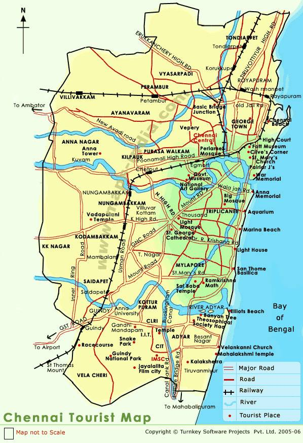 Large chennai maps for free download and print high resolution and large map of chennai 1 malvernweather Gallery