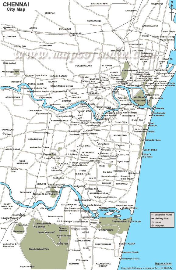 Large Chennai Maps for Free Download and Print | High ... on