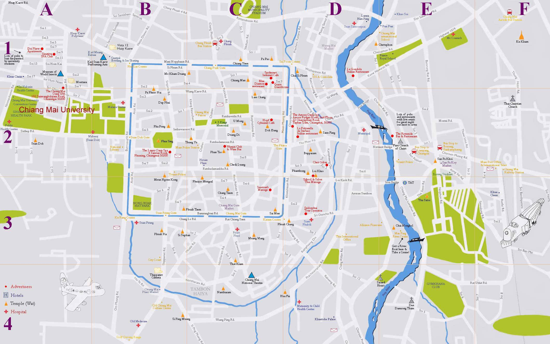 Chiang Mai Thailand Map Large Chiang Mai Maps for Free Download and Print | High
