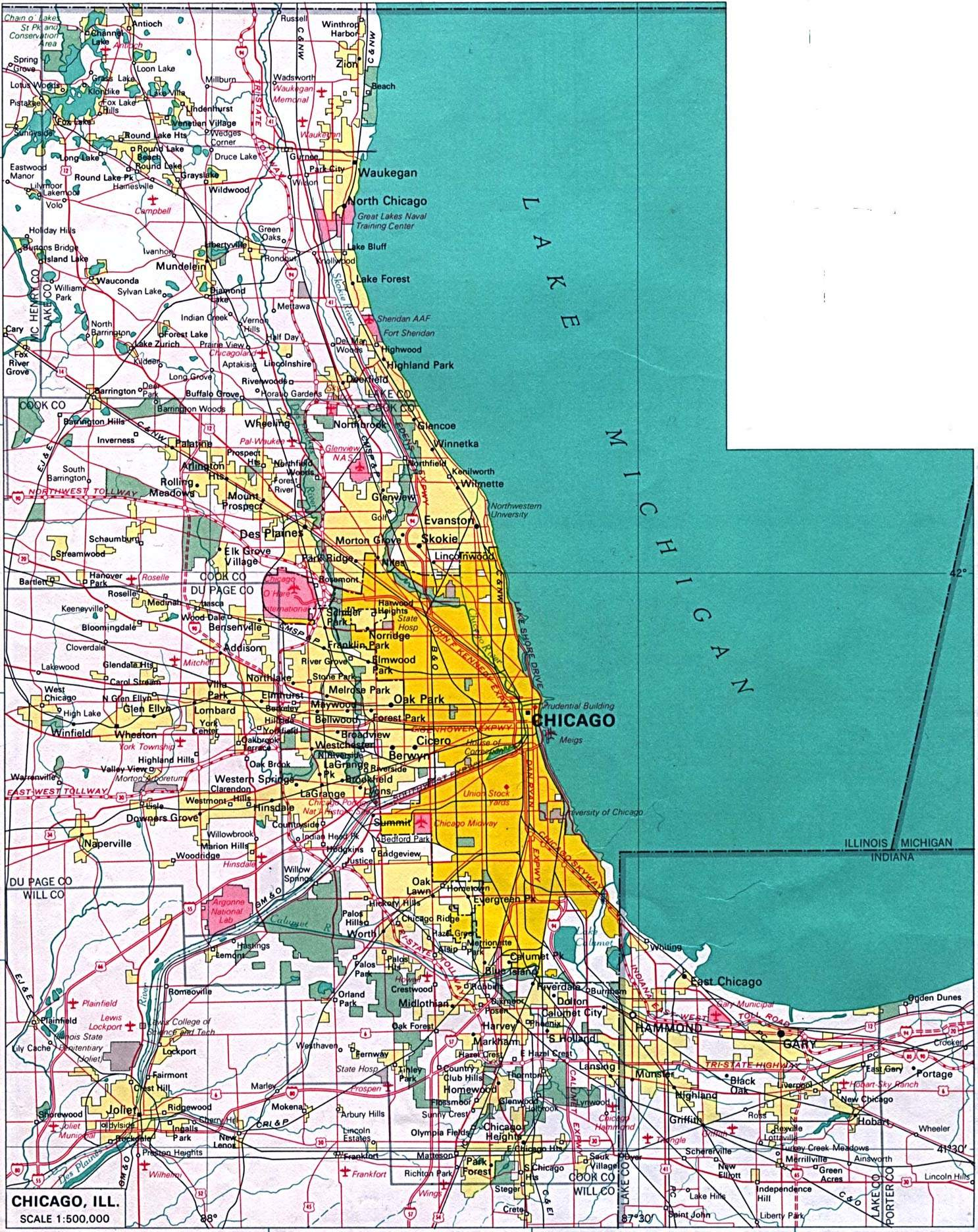 Printable Map Of Chicago Large Chicago Maps for Free Download and Print | High Resolution