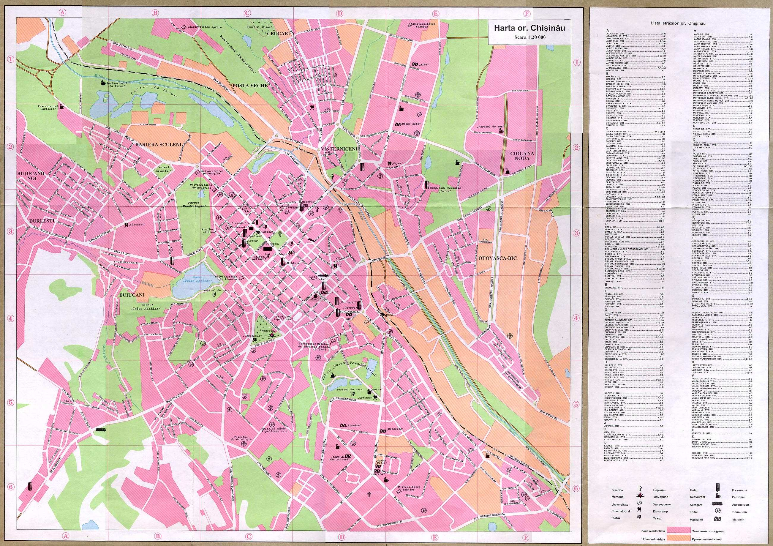 Large Chisinau Maps For Free Download And Print High Resolution